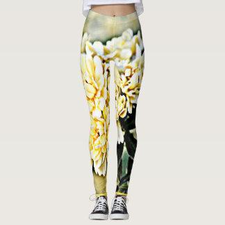 """Yellow Flower Clusters"" Women's Leggings"