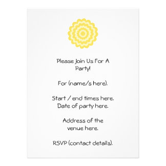 Yellow flower custom invites
