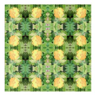 Yellow Flower Dapple 755 cropped Fractal Acrylic Wall Art