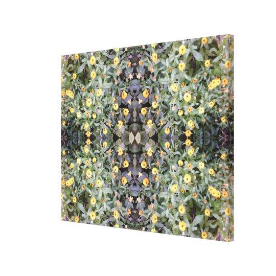 Yellow Flower Fractal Summer 2016 Canvas medium