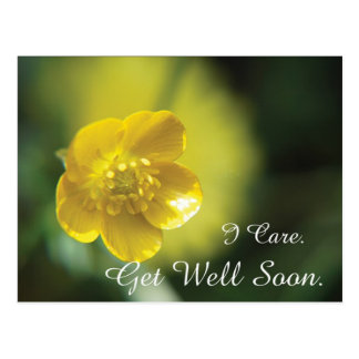 Yellow Flower Get Well Postcard