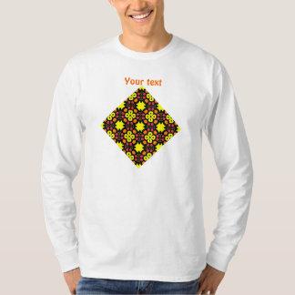 Yellow Flower Kaleidoscope Pattern Abstract Art Shirt