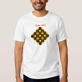Yellow Flower Kaleidoscope Pattern Abstract Art Tee Shirt