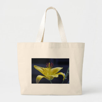 Yellow Flower Lily Tote Bags