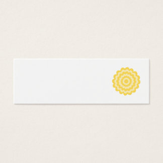 Yellow flower. mini business card