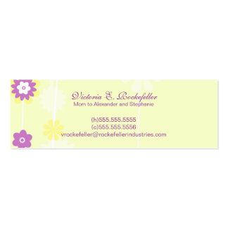 Yellow Flower Mommy Cards Pack Of Skinny Business Cards