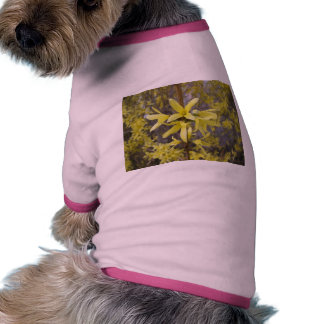 yellow flower nature floral tree blossom pet t shirt