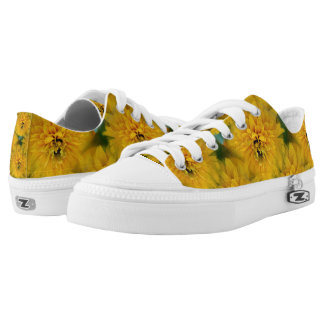 Yellow Flower Nature Pattern Low Tops