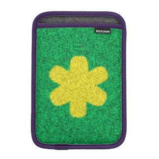 Yellow flower on green background iPad mini sleeve