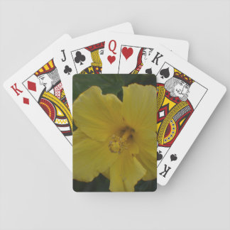 Yellow Flower on Playing Cards