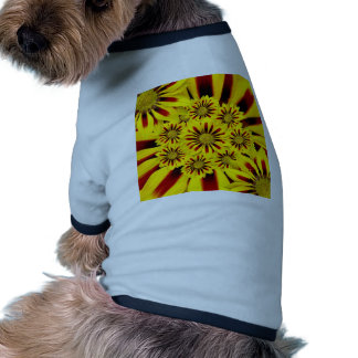 Yellow Flower Pattern Dog Clothing