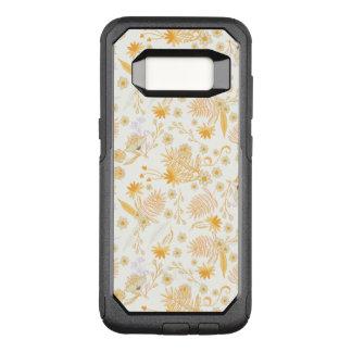 Yellow Flower Pattern OtterBox Commuter Samsung Galaxy S8 Case