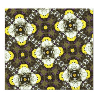 Yellow Flower Pattern Art Photo