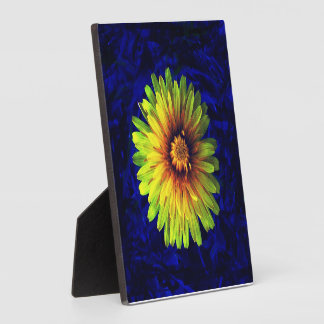 Yellow flower plaque