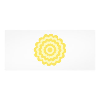 Yellow flower. rack card