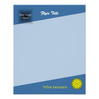 Yellow Flower Ribbon 11.5 Cm X 14 Cm Flyer