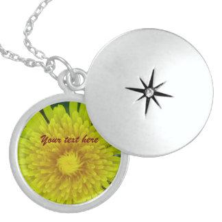 Yellow Flower Round Locket Necklace