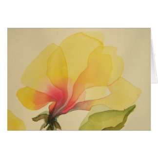 Yellow Flower, Watercolor, Notecard
