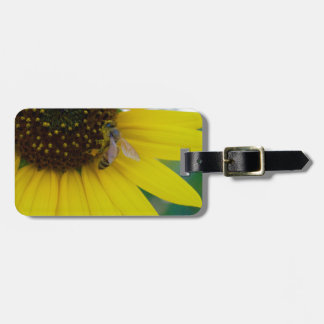 Yellow Flower with Bee Luggage Tag