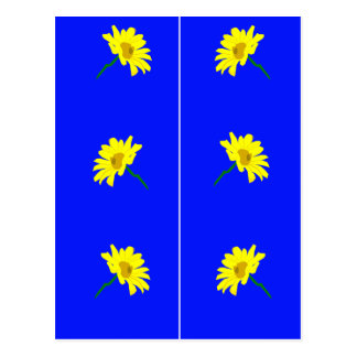 Yellow Flowers Bookmarks Postcard