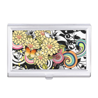 Yellow Flowers Business Card Holder