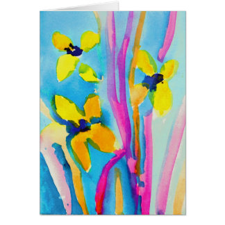 Yellow Flowers by Christina Miller, Age 9 Card
