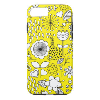 Yellow Flowers Case-Mate Tough iPhone 7 Case