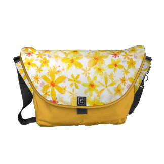 Yellow Flowers Commuter Bags