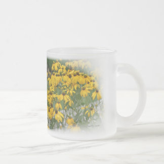 Yellow Flowers Frosted Mug