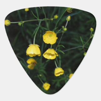 Yellow Flowers Guitar Pick
