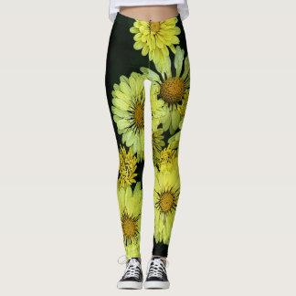 Yellow Flowers Leggings