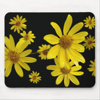 Yellow Flowers Mouse Mat