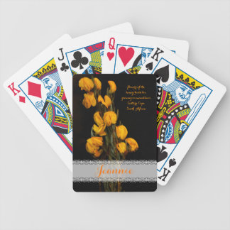 Yellow flowers of the honey-bush tea bicycle playing cards