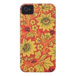 Yellow flowers on red khokhloma  iphone 4/4s case