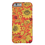 Yellow flowers on red khokhloma iPhone 6 case Barely There iPhone 6 Case