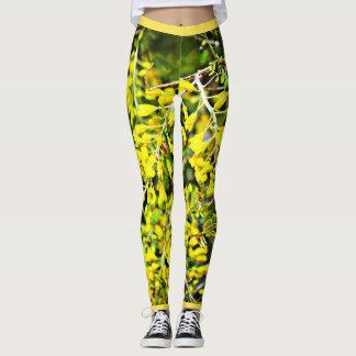 Yellow Flowers on Tree Women's Leggings