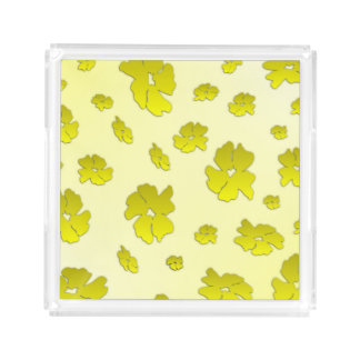 Yellow Flowers Perfume Tray