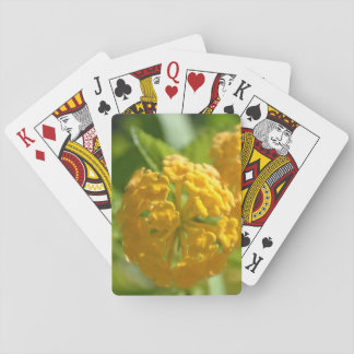 Yellow Flowers Playing Cards