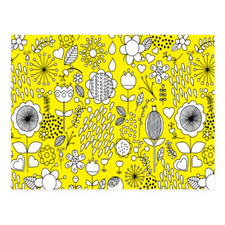 Yellow Flowers Post Card