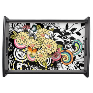 Yellow Flowers Serving Tray