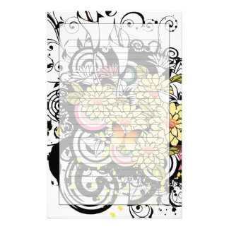 Yellow Flowers Stationery Design