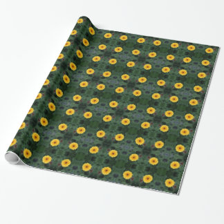 Yellow Flowers Tiled Wrapping Paper