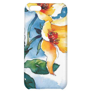 yellow flowers Watercolor Ipod4 Case For iPhone 5C