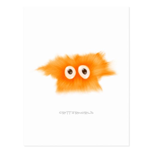 Yellow Fluffball Critter Postcards