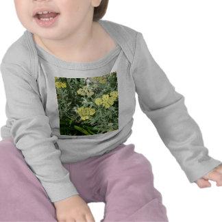 Yellow Flwrs Infant Lng Slv T-shirts