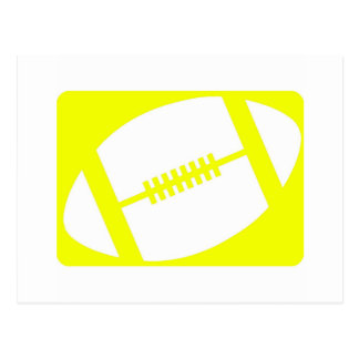 yellow football logo postcards
