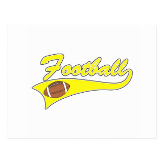 yellow football logo post cards
