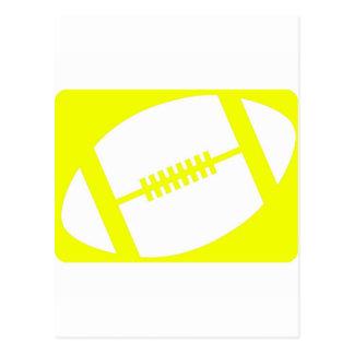 yellow football logo postcard