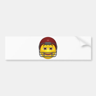 Yellow football smiley face bumper stickers