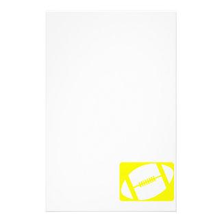 Yellow Football Custom Stationery